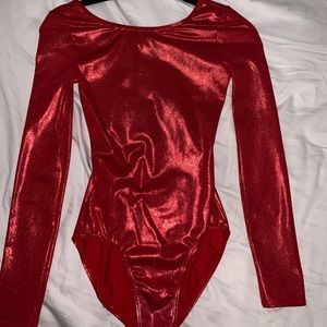 Other - Red sparkle gymnastics leotard